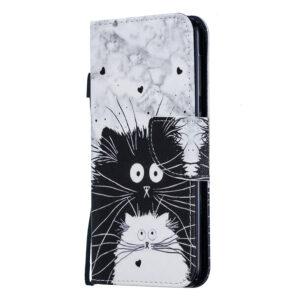 Samsung Galaxy A10 suojakuoret Kissat mustavalkoinen