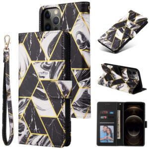 iPhone 12 suojakuoret Musta marmori