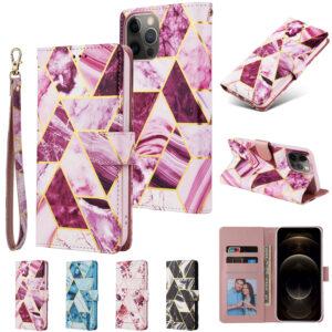 iPhone 12 suojakuoret Violetti marmori